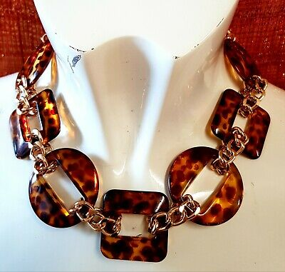 £1.50 • Buy Freedom Top Shop Vintage Statement Animal Gold Tone Costume Necklace Jewellery