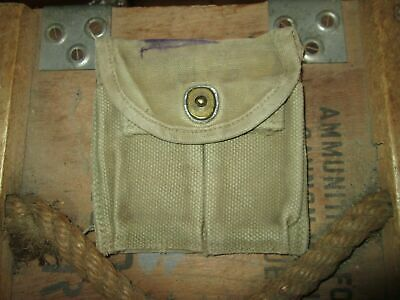 $23.95 • Buy WWII WW2 M1 Carbine Double Belt Butt Stock Pouch Us Army Paratrooper