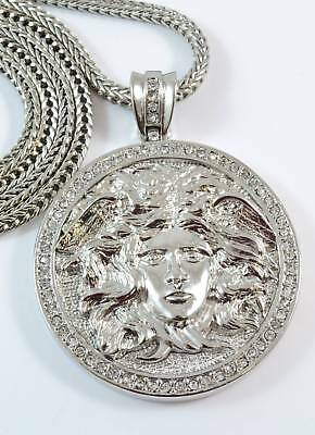 £18.74 • Buy Silver Plated MEDUSA Pendant Necklace 36  Franco Chain #3