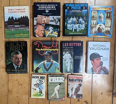 £9.99 • Buy 11 Yorkshire Cricket Books - Collection/delivery Job Lot Cricketers Headingley