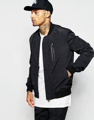 £35.99 • Buy ASOS Bomber Jacket With Chest Pocket In Black - Brand New – Large