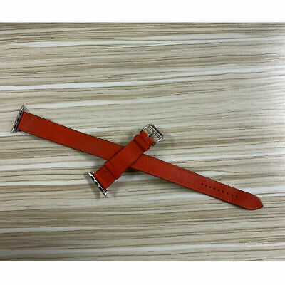 AU283.06 • Buy Used Original HERMES Apple Watch Forve Leather Band Double Tour 38mm/40mm Orange