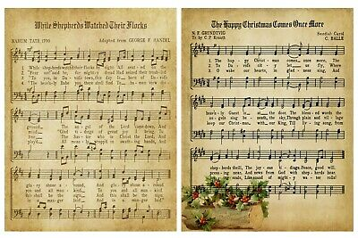 £3.95 • Buy CHRISTMAS CAROLS/MUSIC BACKING PAPERS - 4/12 X A4 Sheets- 160gsm - CARD MAKING