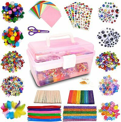 £30.99 • Buy 1000+ Pcs Kids Craft Box Kit, Toddler Arts And Crafts For Kids Includes