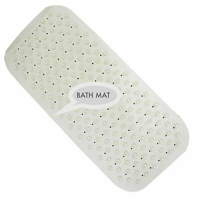 £5.99 • Buy Extra Long Soft Rubber Grip Strong Suction Non-Slip Anti Fall Bath Shower Mat
