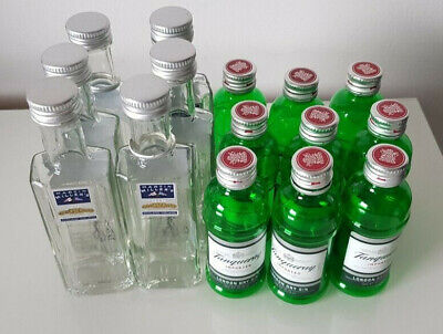 £11.95 • Buy 6 Martin Millers 5cl & 9 Tanqueray 5cl **Empty** Minature Gin Bottles-Upcycling
