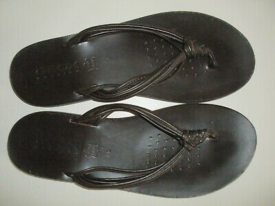 £19.99 • Buy Geox Mens Brown Leather Toe Post/thong Summer/holiday Sandals Size 12 46