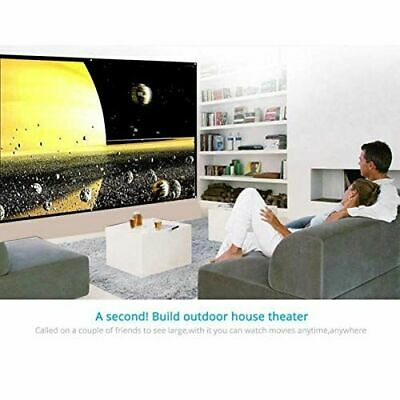AU32.89 • Buy Outdoor Foldable Projector Screen 16:9 Cinema Home Theater 3D Movie Projection