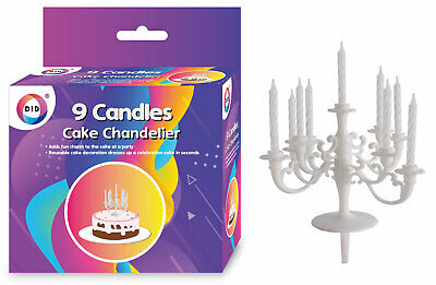 £6.19 • Buy Birthday Cake Chandelier. 9 Candle Holder / Topper/ Decoration/ Candles