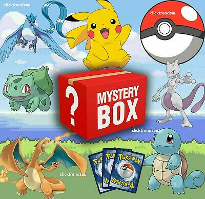 AU50 • Buy BEST Pokemon Mystery Box POKEMON TCG (BOOSTER PACK, GX RARE) AND MORE For $50