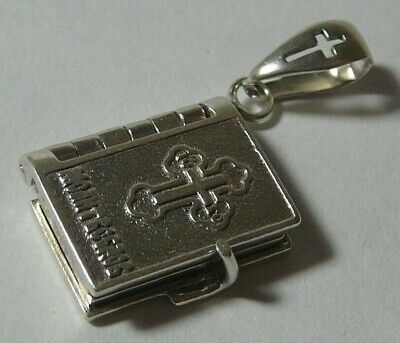 £32.45 • Buy Vintage Book Driver's Prayer Russian 925 Sterling Silver Icon Pendant