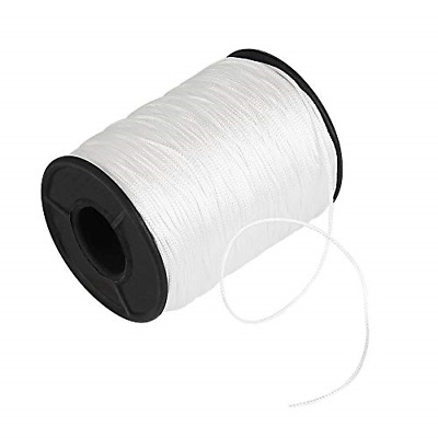 £10.32 • Buy Kbnian 150 Yards/Roll Lift Cord 1mm Braided Shade Roller Blinds Cord White Pull