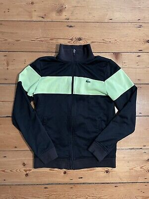 £35 • Buy Lacoste Tracksuit Top - Black And Yellow - Small