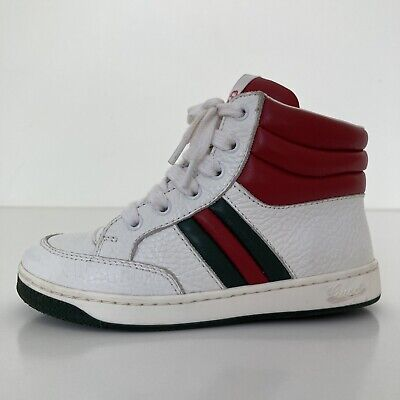 AU99.95 • Buy Gucci Toddler Leather Web High Top Sneakers Size EURO 25