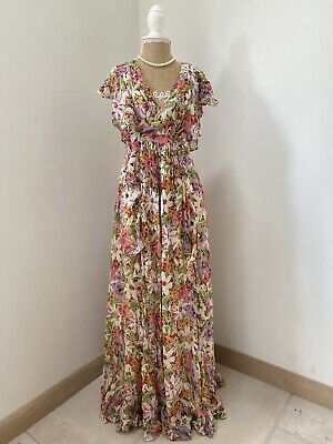 £99.99 • Buy By Timo For Free People Floral Semi Ruffled Lined Maxi Dress XS Wears 8/10 $491
