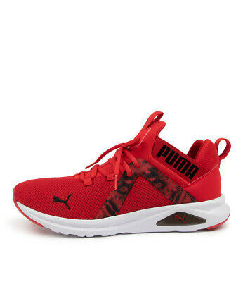 AU110 • Buy New Puma Enzo 2 Graphic Red Black Mens Shoes Active Sneakers Active