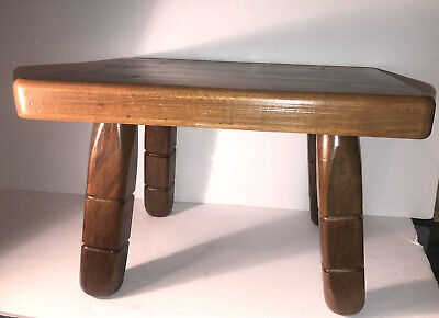 $125 • Buy VTG Wood Wooden Footstool Ottoman Milking Stool Plant Stand Bench Mortise Legs