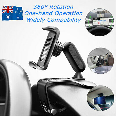 AU11.95 • Buy 360° Rotation Universal Dashboard Car Phone Holder Mount GPS Stand Cradle Clamp