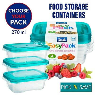 £12.45 • Buy 270ml Food Storage Container Box With Lids Tupperware Plastic Strong Premium