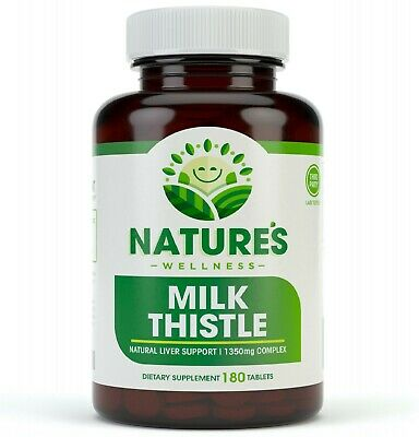 $11.95 • Buy Milk Thistle 1350mg - 180 Count - Standardized Silymarin Extract For Maximum
