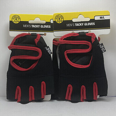£12.90 • Buy GOLDS GYM Training Gloves Workout Weightlifting Tacky Mens M LARGE Lot Of 2