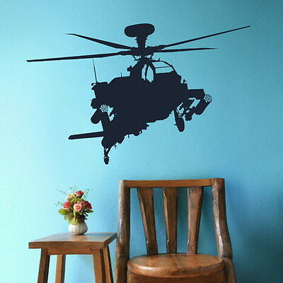 $13.89 • Buy Army Helicopter Wall Sticker / Decal Art Transfer / Vinyl Graphic Stencil RA149