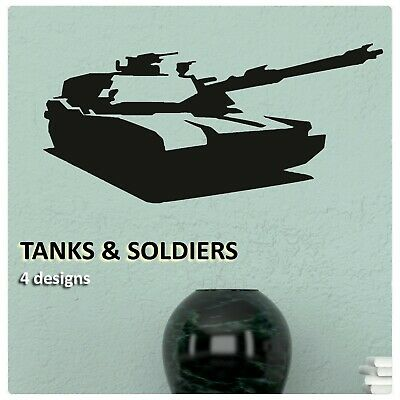 $15.28 • Buy Soldier Wall Stickers Boys Vinyl Transfer Decal Army Tank Military Art Graphics