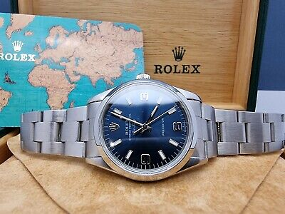 $ CDN8127.55 • Buy 1999 Rolex Air King Oyster Perpetual 14000 Box & Papers, 34mm Blue 3-6-9 Dial