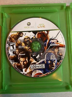 £5.84 • Buy Marvel: Ultimate Alliance Xbox 360 Kids Game Disc Only Avengers Spider Man