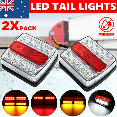 AU26.95 • Buy 2X Submersible Waterproof 26 LED Stop Tail Lights Kit Boat Truck Trailer Light