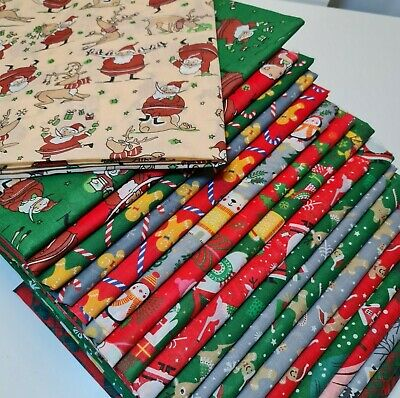 £4.90 • Buy NEW Christmas Printed Polycotton Quality Material Poly Cotton Fabric Per Metre