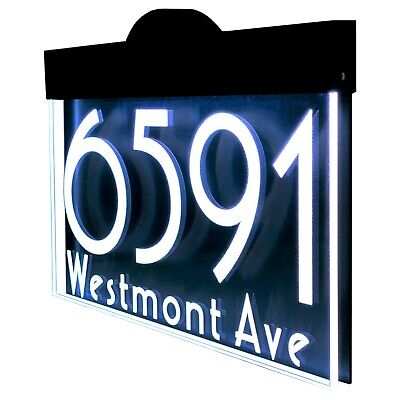 £107.26 • Buy Illuminated LED Lighted Address Sign Plaque Address Numbers House Numbers Sign