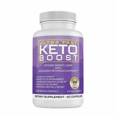 $6.99 • Buy Ultra Fast Keto Boost Weight Loss Pills With BHB Keytones More Energy Burn Fat