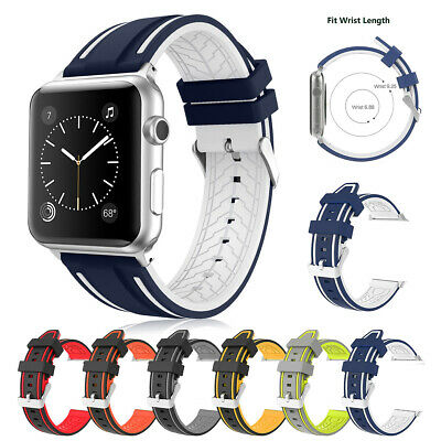 $ CDN7.69 • Buy Silicone Bracelet Strap Watch Band For Apple IWatch Series 3 2 1 38/40/42/44mm