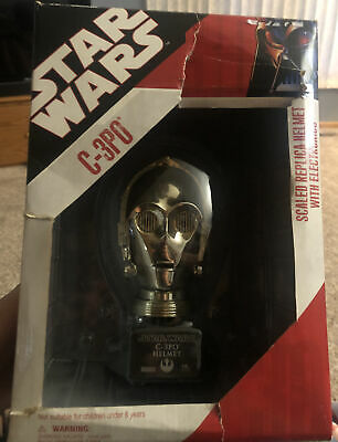 £40 • Buy Rare Star Wars C-3PO Replica Helmet W Electronics Master Droid You Are Looking 4