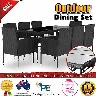 AU709.97 • Buy Outdoor Furniture Set Garden PE Wicker Dining Table Chairs Patio Lounge Setting