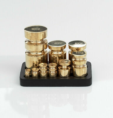 £38.95 • Buy 9 Piece Victor Brass Metric Weights Weight Set With Stand
