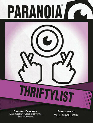 £10.94 • Buy MGP50018 Mongoose Publishing Paranoia RPG: Thriftylist Card Deck