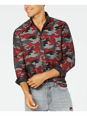 $5.99 • Buy AMERICAN RAG Mens Red Camouflage Collared Dress Shirt XXL