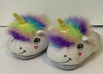 AU19.96 • Buy Unicorn Adult Slippers Size 11/12 3D Character Shoes Fuzzy Fun