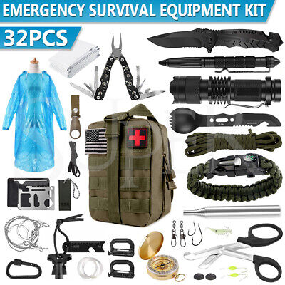 AU52.99 • Buy Tactical Emergency Survival Kit Outdoor Sports Tactical Hiking Camping SOS Tool