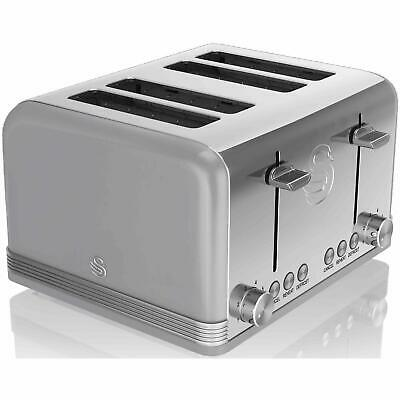 £46.14 • Buy Swan 4 Slice Retro Toaster With Electronic Browning Control/Auto Shut Off - Grey