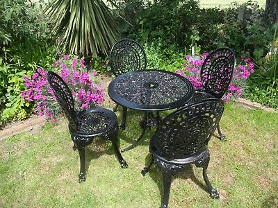 £275 • Buy Garden Furniture Set - Table And 4 Chairs - Cast Aluminium