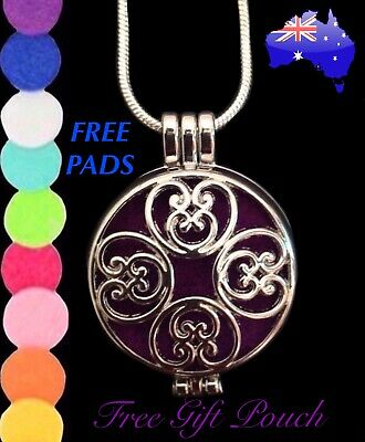AU12.95 • Buy Aromatherapy Essential Oil Diffuser Locket 925 Sterling Silver Chain Necklace