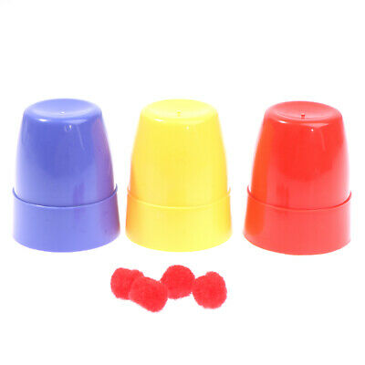 £3.48 • Buy Three Cups And Balls Magic Tricks Many Size Close Up Stage Magic Props T FI