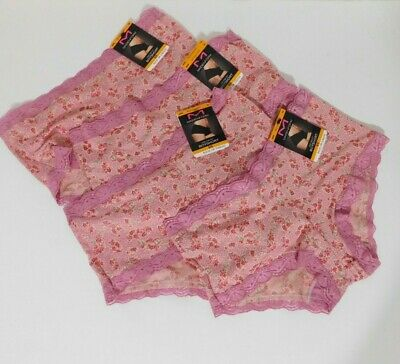 $14.99 • Buy Maidenform Ladies Lot Of 4 One Fab Fit Boyshorts Size SMALL Lilac Floral NEW