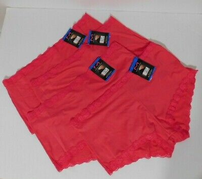 $14.99 • Buy Maidenform Ladies Lot Of 4 One Fab Fit Boyshorts Size XL 8 Pink NEW