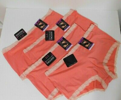 $14.99 • Buy Maidenform Ladies Lot Of 4 One Fab Fit Boyshorts Size 2XL 9 Coral  NEW