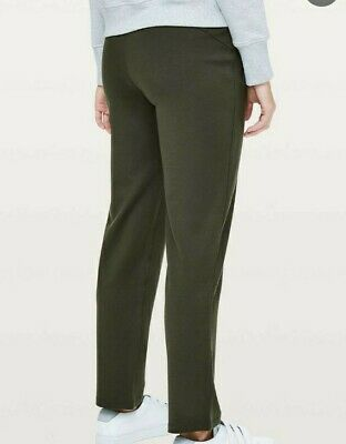$ CDN86.14 • Buy Womens Size 10 Lululemon On The Move Pants Olive Forest Dark Green Trousers