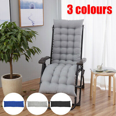 £14.95 • Buy Sun Lounger Cushion Pad Replacement Chair Seat Recliner Cotton Garden Outdoor